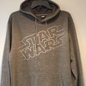 Star Wars Men's Gray Heather Hoodie Sweatshirt